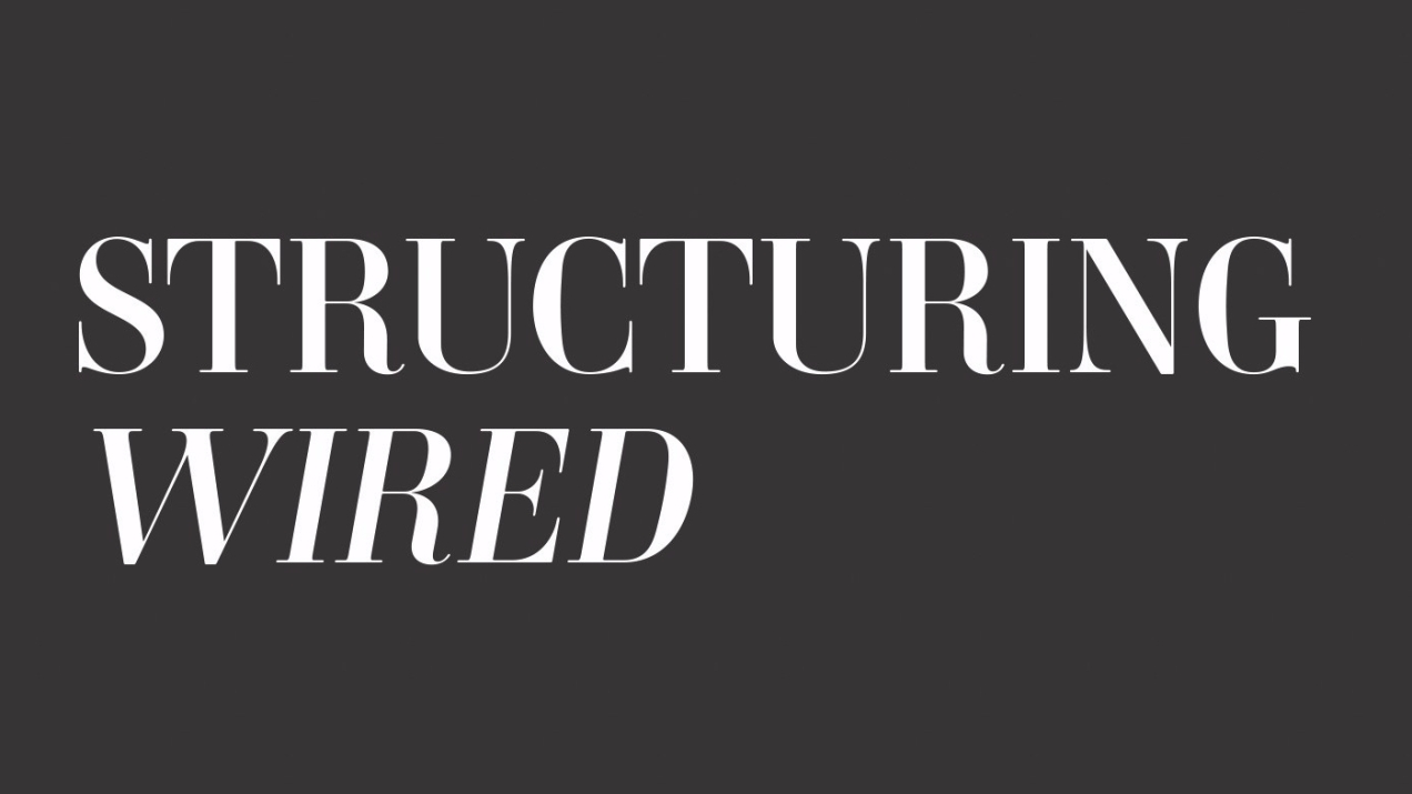 structuring wired cover