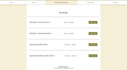 Website - Booking